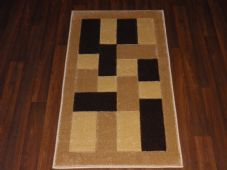 Modern Aprox 4x2 60cm x110cm  New Rugs Woven Hand Carved Nice Blocks Beige/Brown